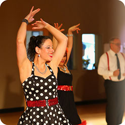 Learn to dance in our group dance classes at First Class Ballroom in Everett